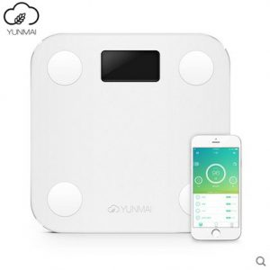 White Mini Smart Scales Track With Iphone Or Android